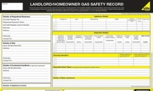 Landlords Gas Safety Certificate from Heathlands Heating Ltd